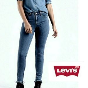 PLUS Levi's 721 High Rise Skinny Raw Hem Jeans